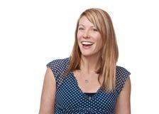 Risa hermosa de la mujer imágenes de archivo libres de regalías