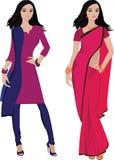 Mujer joven india () ilustración del vector