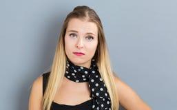 Mujer joven infeliz Imagenes de archivo