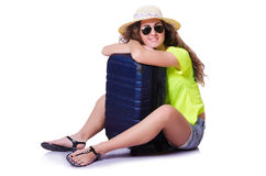 Mujer joven lista para las vacaciones de verano Fotos de archivo