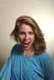 Mujer joven loca Fotos de archivo