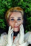 Mujer joven magnífica en velo Imágenes de archivo libres de regalías