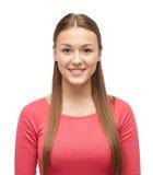 Mujer joven o adolescente sonriente en jersey Fotos de archivo libres de regalías