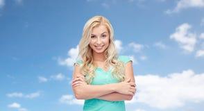 Mujer joven o adolescente sonriente feliz Imagenes de archivo
