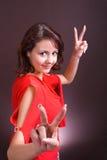 Mujer joven. partido 2 imagenes de archivo
