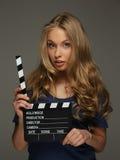 Mujer joven positiva Fotos de archivo libres de regalías