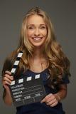 Mujer joven positiva Foto de archivo