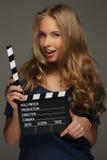 Mujer joven positiva Imagen de archivo libre de regalías