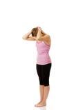 Mujer joven que hace ejercicio aeróbico Fotos de archivo libres de regalías