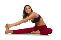 Mujer joven que hace ejercicios foto de archivo libre de regalías