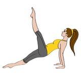 Mujer joven que hace exercise_01 stock de ilustración