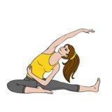Mujer joven que hace exercise_02 ilustración del vector