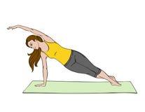 Mujer joven que hace exercise_03 ilustración del vector