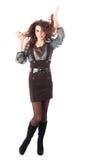 Mujer joven rizada atractiva Fotografía de archivo