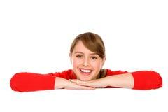 Mujer joven sonriente Imagenes de archivo