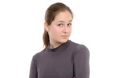 Mujer joven sorprendida fotografía de archivo