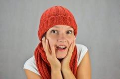 Mujer joven sorprendida Imagen de archivo libre de regalías