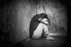 Mujer joven triste Imagen de archivo