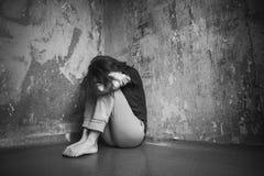 Mujer joven triste Fotos de archivo