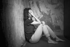 Mujer joven triste Foto de archivo