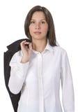 Mujer joven vestida ocasional Imagen de archivo libre de regalías
