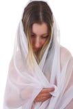 Mujer joven wraping Fotografía de archivo libre de regalías