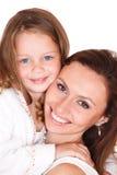 Mujer joven y niña Imágenes de archivo libres de regalías