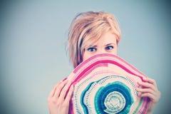 Mujer juguetona Foto de archivo