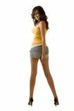 Mujer larga de la pierna Imagen de archivo libre de regalías