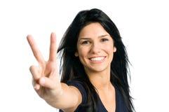 Mujer latina joven feliz imagenes de archivo