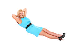 Mujer Levitating Fotografía de archivo libre de regalías