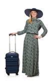 Mujer lista para las vacaciones de verano aisladas Imagen de archivo libre de regalías