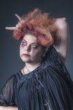 Mujer loca en un estado terrible Foto de archivo libre de regalías