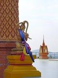Mujer mítica de la escultura en Tailandia Foto de archivo libre de regalías