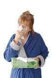 Mujer madura con frío Imágenes de archivo libres de regalías