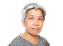 Mujer madura de Asia Fotografía de archivo