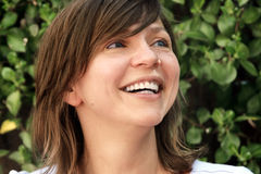Mujer madura feliz foto de archivo libre de regalías