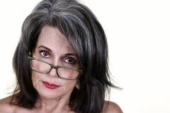 Mujer madura hermosa foto de archivo libre de regalías