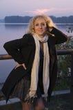 Mujer madura que plantea el cuarto de tres Fotografía de archivo libre de regalías