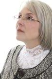 Mujer madura seria Imágenes de archivo libres de regalías