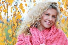Mujer madurada en otoño Imágenes de archivo libres de regalías