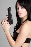 Mujer magnífica del arma imagen de archivo libre de regalías