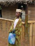 Mujer malgache nativa imagen de archivo libre de regalías