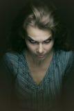 Mujer malvada fantasmagórica asustadiza Fotografía de archivo libre de regalías
