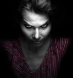 Mujer malvada fantasmagórica asustadiza Fotos de archivo libres de regalías