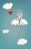 Corazón del ángel Foto de archivo libre de regalías