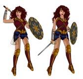 Mujer Maravilla ilustración del vector