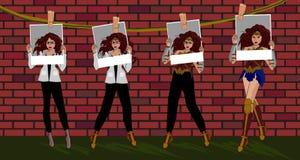 Mujer Maravilla de la transformación libre illustration