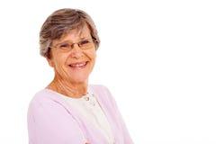 Mujer mayor aislada Imagen de archivo libre de regalías
