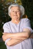Mujer mayor alegre Fotografía de archivo